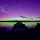 Aurora From Primrose Sands Tasmania by Robert-Todd