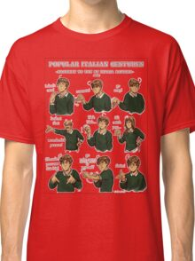 Popular Italian Gestures brought to you by Italia Romano Classic T-Shirt