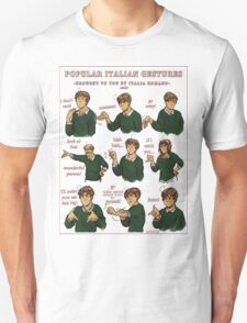 Popular Italian Gestures brought to you by Italia Romano Unisex T-Shirt