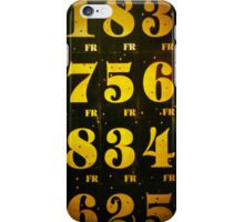 Numbers Game iPhone Case/Skin