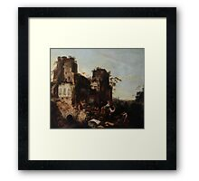 Circle of Jan Griffier the Elder The Return of the Caravan from a Grand Tour Framed Print
