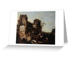 Circle of Jan Griffier the Elder The Return of the Caravan from a Grand Tour Greeting Card