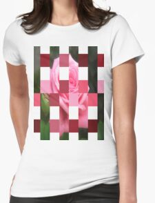 Pink Roses in Anzures 4 Art Rectangles 15 Womens Fitted T-Shirt