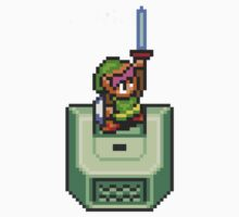 Link holding Master Sword Kids Clothes