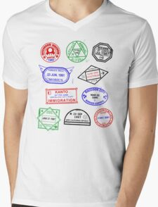 Gaming Passport Mens V-Neck T-Shirt