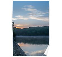 A New Day At Jumbles Reservoir. Poster