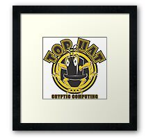 TOP HAT  Cryptic Computing Framed Print