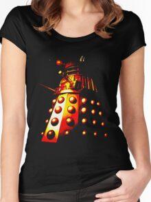 Dalek Gamma – Fire Women's Fitted Scoop T-Shirt