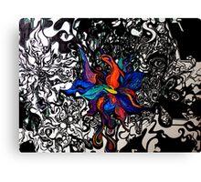 Abstract Flower Garden Canvas Print