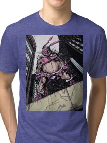 The Pink Bunny Saves Tri-blend T-Shirt