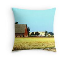 Country Living In Rural Idaho Throw Pillow