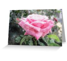Pink Roses in Anzures 6 Watercolor Greeting Card