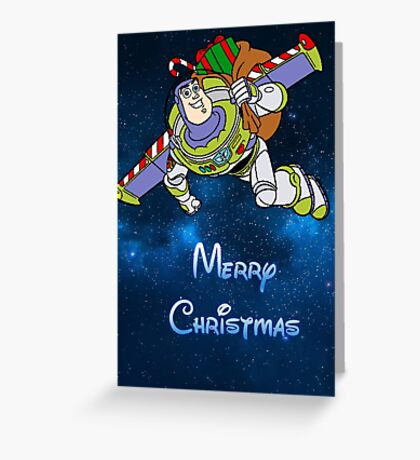 Buzz Lightyear Christmas Greeting Card