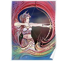 """THE SAGITTAURIUS"" - Protective Angel for Zodiac Sign Poster"