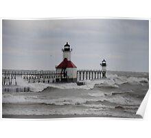 St Joseph North Pier Lighthouse - 19 Poster