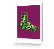 L is for Lucky Leprosy Leg Greeting Card