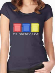 Red Blue Yellow Generation Women's Fitted Scoop T-Shirt