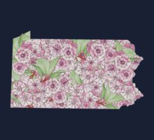 Pennsylvania Flowers One Piece - Short Sleeve