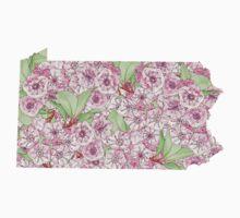 Pennsylvania Flowers One Piece - Short Sleeve