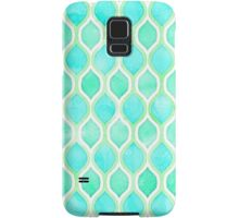 Watercolor pattern in Aqua, Lime & Mint on White Samsung Galaxy Case/Skin