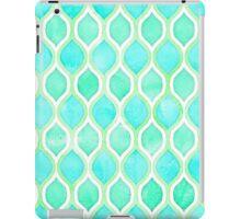 Watercolor pattern in Aqua, Lime & Mint on White iPad Case/Skin