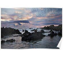 Barricane Beach Ship Wrecker Rocks - North Devon Poster
