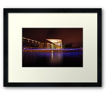 Berlin, blue halo over spree river Framed Print