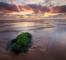 Receding Tides of Woolacombe Bay North Devon by Gareth Spiller