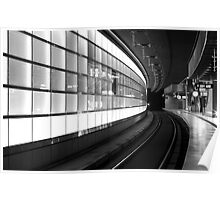 Curved station, berlin Poster