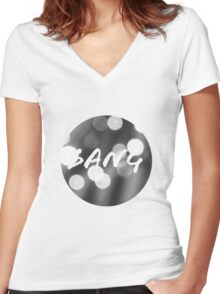 Bokeh Bang Women's Fitted V-Neck T-Shirt