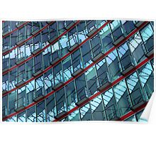 Red curves and balconies Poster