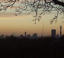 London, winter dawn by powerball225