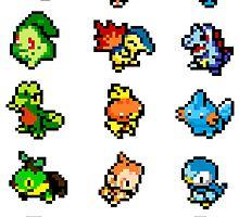 Pixel Starters Poster by Flaaffy