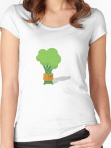 Broccoli student Women's Fitted Scoop T-Shirt