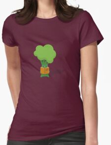 Broccoli student Womens Fitted T-Shirt