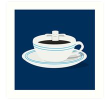 Relax In Caffe Art Print