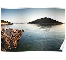 Cunski coastline at sunrise, Losinj Island Poster