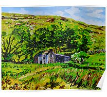 Deserted Farm, High in the Glen, Glendun, County Antrim. Poster