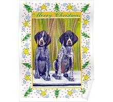 German Shorthaired Pointer Christmas Poster