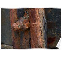 Decaying ironwork Poster