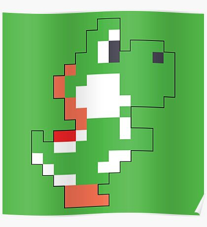 Super Mario Maker - Yoshi Costume Sprite Poster