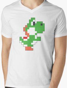 Super Mario Maker - Yoshi Costume Sprite Mens V-Neck T-Shirt