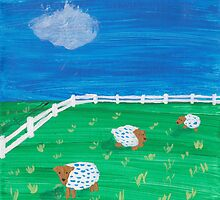 Painting for my daughter's room - Sheep by reujken