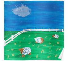 Painting for my daughter's room - Sheep Poster