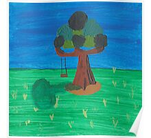 Painting for my daughter's room - Tree with swing Poster