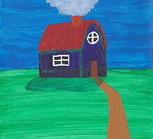 Painting for my daughter's room - House by reujken