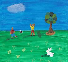 Painting for my daughter's room - Soccer boys by reujken