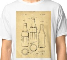 Coca Cola Bottle Patent Art 1937 Blueprint Drawing Classic T-Shirt