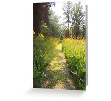 Where the Trail Turns Yellow Greeting Card