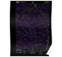 USGS TOPO Map New Hampshire NH Exeter 20120718 TM Inverted Poster
